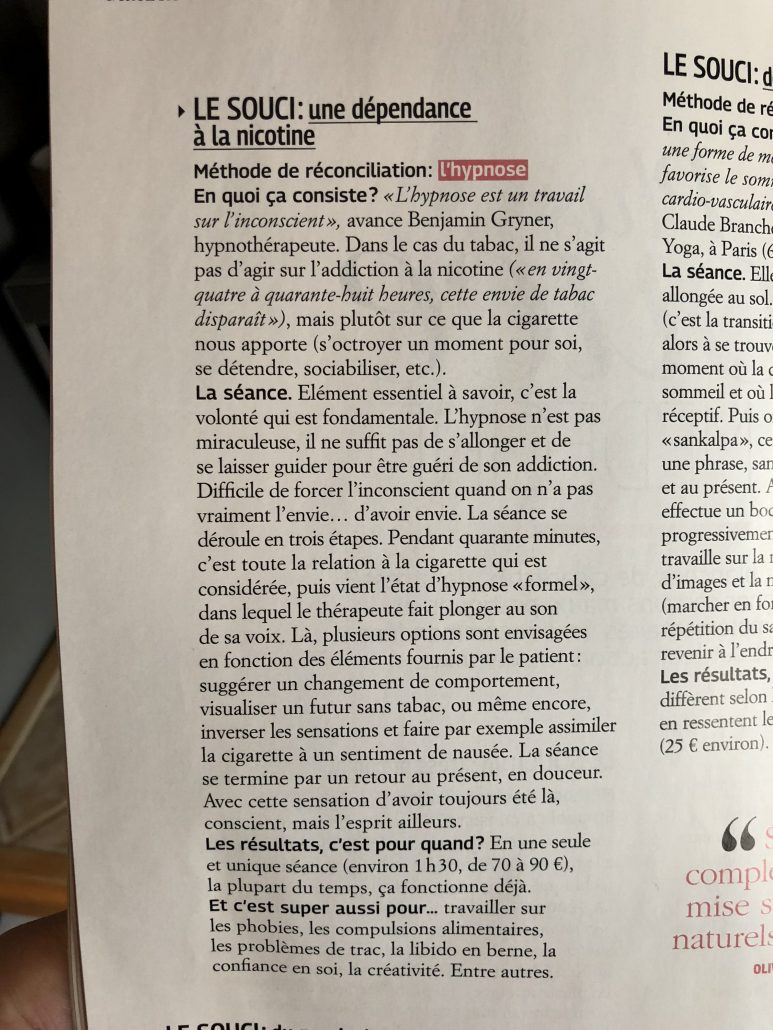 Interview au magazine Grazia